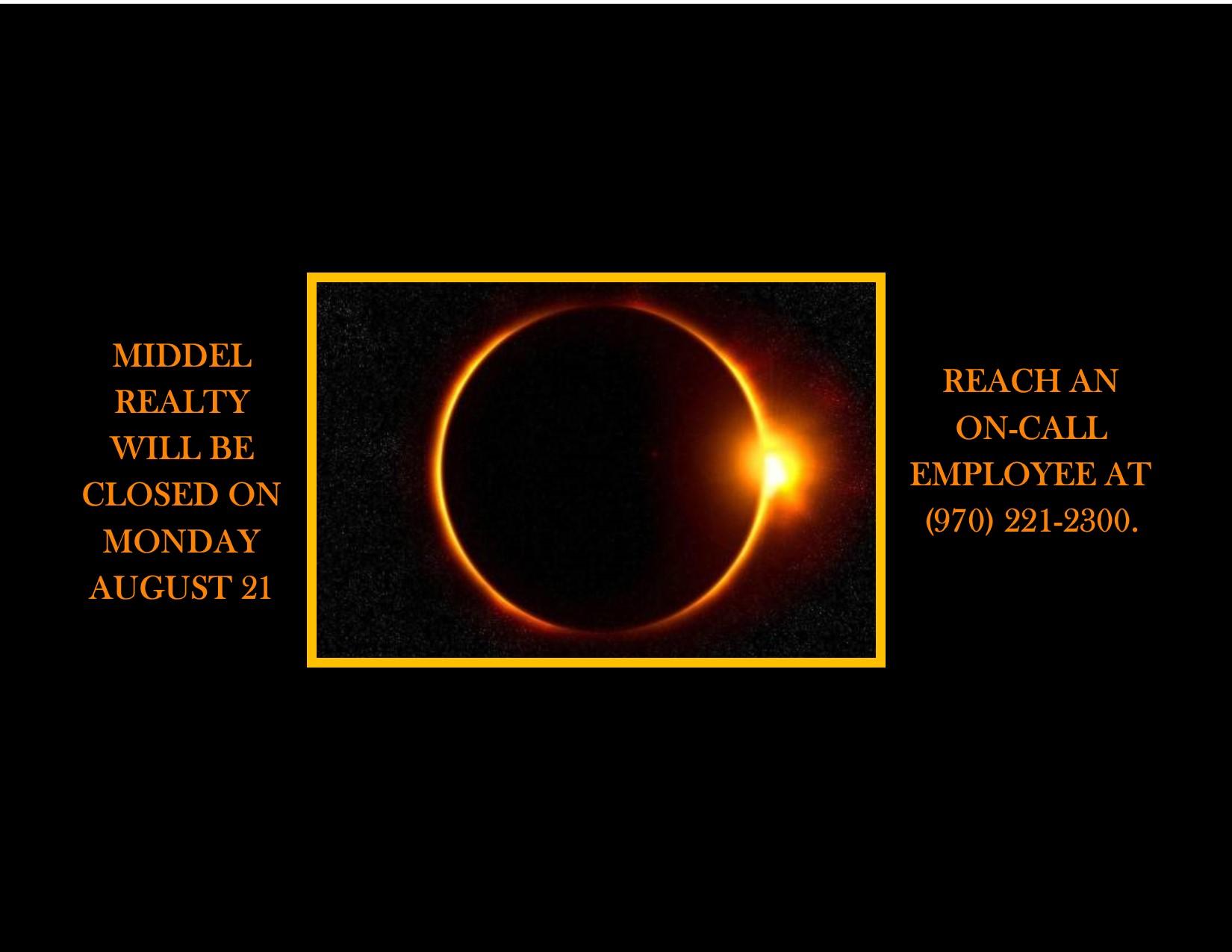 Solar Eclispe Closure banner